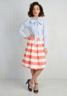 Whole Yacht of Love Skirt in Pink  Mod Retro Vintage Skirts