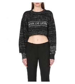 WALK OF SHAME   Slogan embroidered cropped jumper