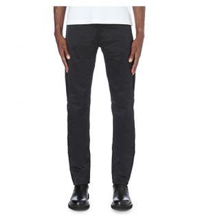 YANG LI   Regular fit tapered denim jeans