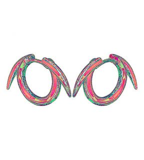 SHAUN LEANE   Sterling silver thorned hoop earrings