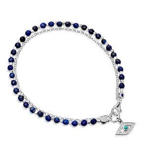 ASTLEY CLARKE   Evil Eye sterling silver friendship bracelet