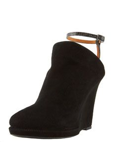 Givenchy Ankle Wrap Suede Wedge Mule