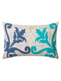 Fleur de Lis Embroidered Pillow by Loloi Pillows