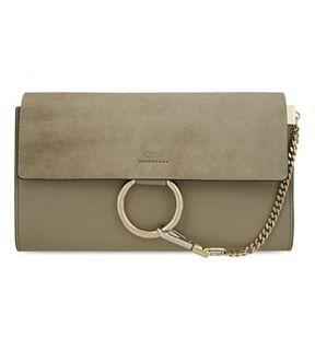 CHLOE   Faye leather clutch