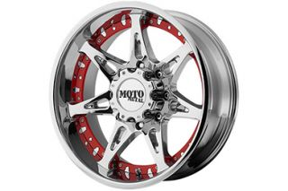 "Moto Metal MO96129088218   8 x 180mm Bolt Pattern Chrome 20"" x 9"" MO961 Chrome Wheels   Alloy Wheels & Rims"