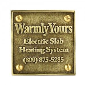 Warmly Yours SMP Plaque Snow Melt