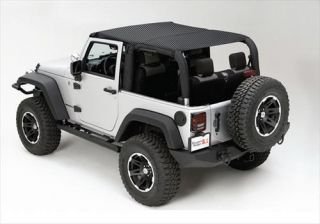 Rugged Ridge   Rugged Ridge Island Topper Soft Top (Black Mesh) Cab Cover, 13579.13   Fits 2010 to 2016 JK Wrangler Unlimited and Rubicon Unlimited