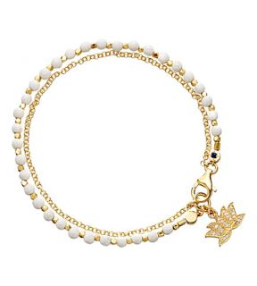 ASTLEY CLARKE   Lotus white agate friendship bracelet