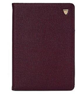 ASPINAL OF LONDON   Ipad Mini saffiano leather stand up case