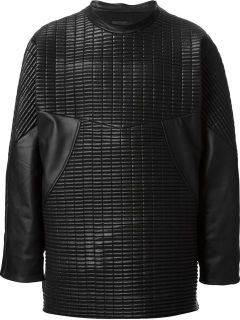 Mafalda Fonseca Quilted Faux Leather Sweatshirt
