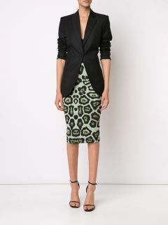 Givenchy Leopard Print Pencil Skirt   Kirna Zabête