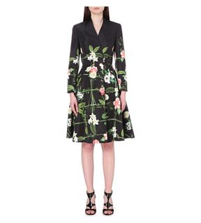 TED BAKER   Giova Secret Trellis print crepe coat