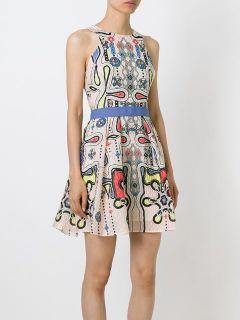 Peter Pilotto Printed Waffle Textured Dress