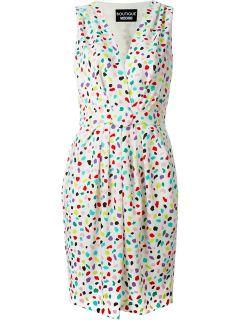 Boutique Moschino Spot Print V neck Dress   Verso