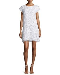 Joie Tabbetha Crocheted Cap Sleeve Dress