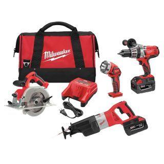 MILWAUKEE Cordless Combination Kit, 28.0 Voltage, Number of Tools 4   Cordless Combination Kits   4ZA95|0928 29