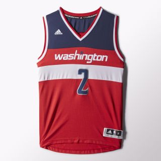 adidas John Wall Wizards Road Swingman Jersey   Red