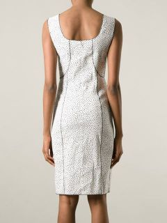 Nina Ricci Ruffle Detail Printed Fitted Dress