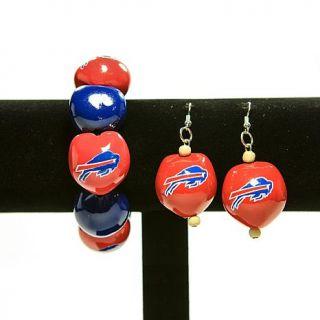 Ladies' Kukui Nut Bead Bracelet and Earrings Set   Bills   6965312
