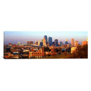 Panoramic Kansas City, Missouri Photographic Print on Canvas