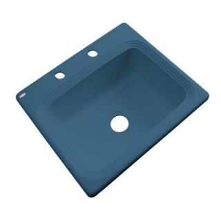 Thermocast Rochester Drop In Acrylic 25 in. 2 Hole Single Bowl Kitchen Sink in Rhapsody Blue 25221   Mobile