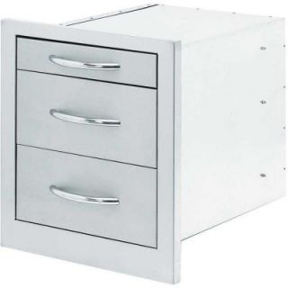 Cal Flame Outdoor Kitchen Stainless Steel 3 Drawer Storage BBQ08866