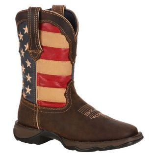 Durango® Womens Flag Lady Rebel Boots   Brown/Union Flag
