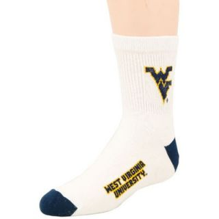 West Virginia Mountaineers White Youth 901 (7 9) Tall Team Logo Socks