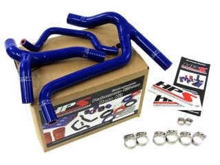 Kawasaki 10 12 KX450F HPS Blue High Temp Reinforced Silicone Radiator Hose Kit Coolant