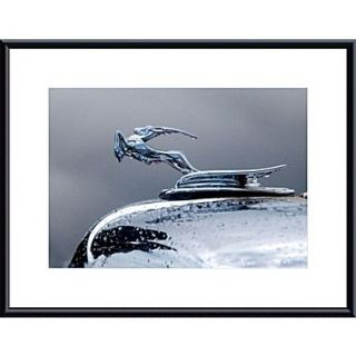 Printfinders Chrysler Hood Ornament by John K. Nakata Framed Photographic Print; Black