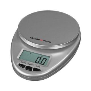 Escali Health o Meter Mulitfunctional Kitchen Food Scale in Silver HM1S