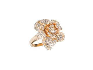 Effy Jewelry Jardin Pave Rose Diamond Ring in Rose Gold, 1.12 TCW  Size 7