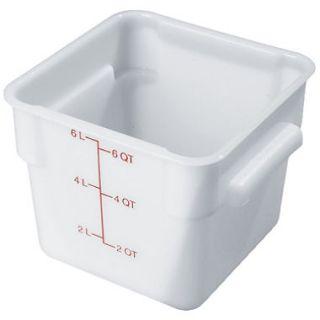 Carlisle Square Food Container, White   6 Quart