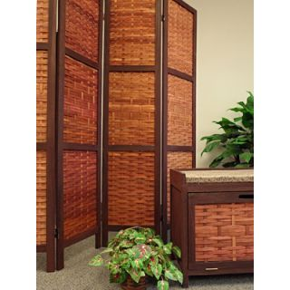 Proman Products 67 x 61 Saigon Folding Screen 4 Panel Room Divider