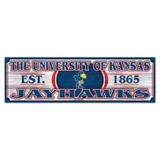 Kansas Jayhawks 9 x 30 CV Wood Sign