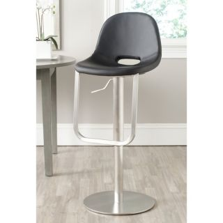 Safavieh Andrina Black 20.4 32.2 inch Adjustable Bar Stool