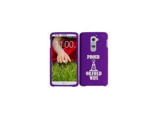 LG G2 AT&T Sprint T Mobile Snap On 2 Piece Rubber Hard Case Cover Proud Oilfield Wife (Purple)