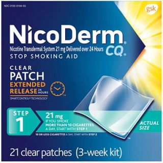 NicoDerm CQ Clear   Step 1   21mg   21 Patches