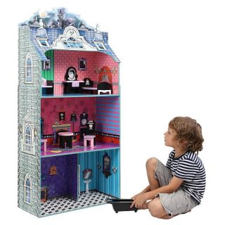 Teamson Kids Monster Mansion Doll House with Furniture    Teamson Design Corp