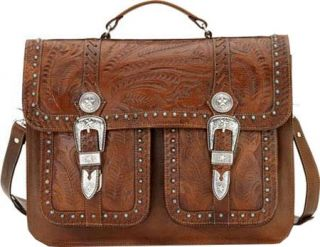 American West Retro Romance Travel 2 Compartment Briefcase