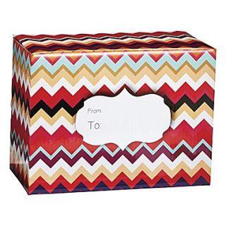 Paper 9H x 6W x 12L Medium Chevron Sunset Mailing Box, Multicolor, 36/Pack