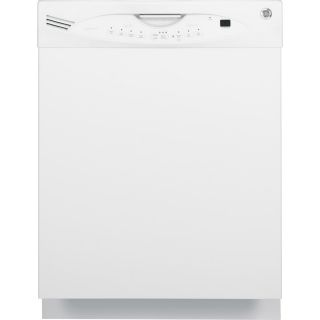 GE 56 Decibel Built In Dishwasher with Hard Food Disposer (White) (Common: 24 in; Actual: 24 in)