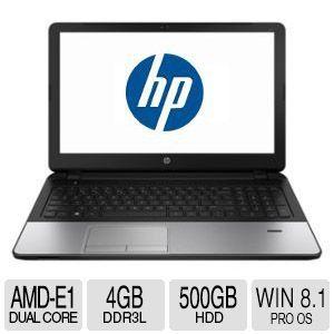 HP 355 G2 Notebook PC   AMD Dual Core E1 6010 APU with Radeon� R2 Graphics, 1.35GHz, 4GB Memory, 500GB HDD, 15.6  LED Backlit, 1366 x 768, Windows 8.1 64 bit   G4V14UT#ABA