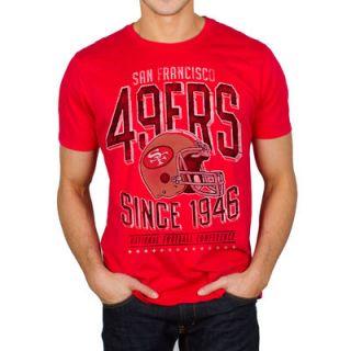 San Francisco 49ers Junk Food Kick Off T Shirt   Scarlet