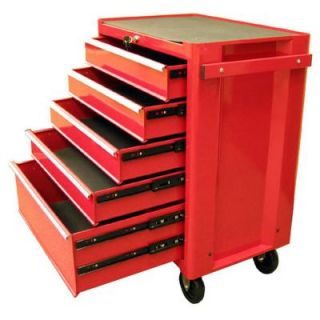 Excel 27 in. 5 Drawer Steel Roller Cabinet in Red TB2090BBS B Red