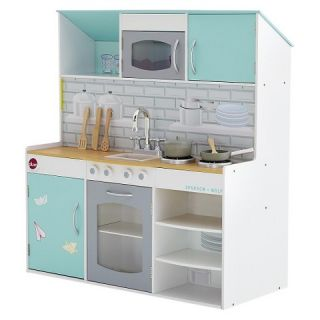 Plum Peppermint Townhouse 2 in 1 Kitchen & Doll House