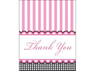 "Club Pack of 96 Sweet Baby Feet  Pink Paper ""Thank You"" Notes"