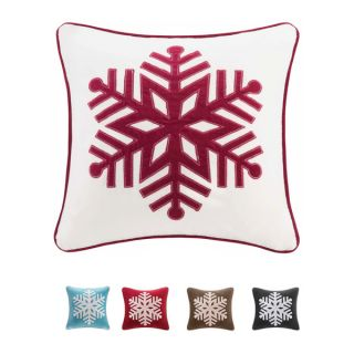 Madison Park Cotton Velvet Snowflake 20 inch Throw Pillow   16629993