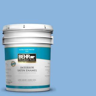 BEHR Premium Plus 5 gal. #570B 4 Bayou Zero VOC Satin Enamel Interior Paint 740005
