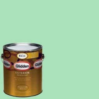 Glidden Premium 1 gal. #HDGG54D Jacob's Jade Flat Latex Exterior Paint HDGG54DPX 01F